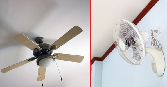 Ceiling Fan Vs Wall Fan