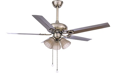 Hans Metal Blade Lighting Ceiling Fan